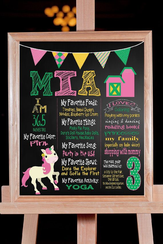 Birthday board chalkboard photo prop farm girl john deere