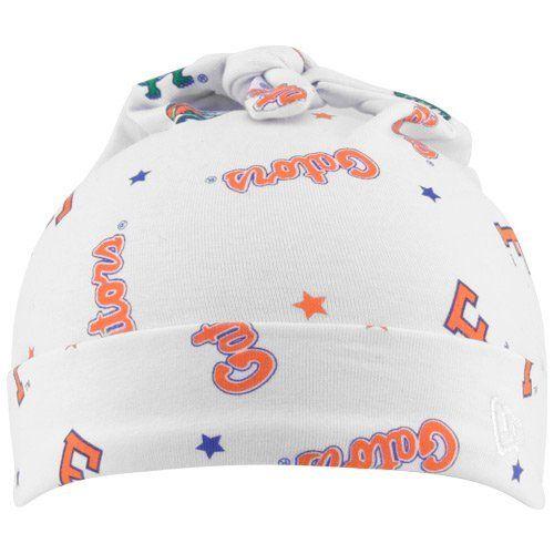 da0d6f4ac NCAA New Era Florida Gators Infant White Knit Baby Beanie New Era ...
