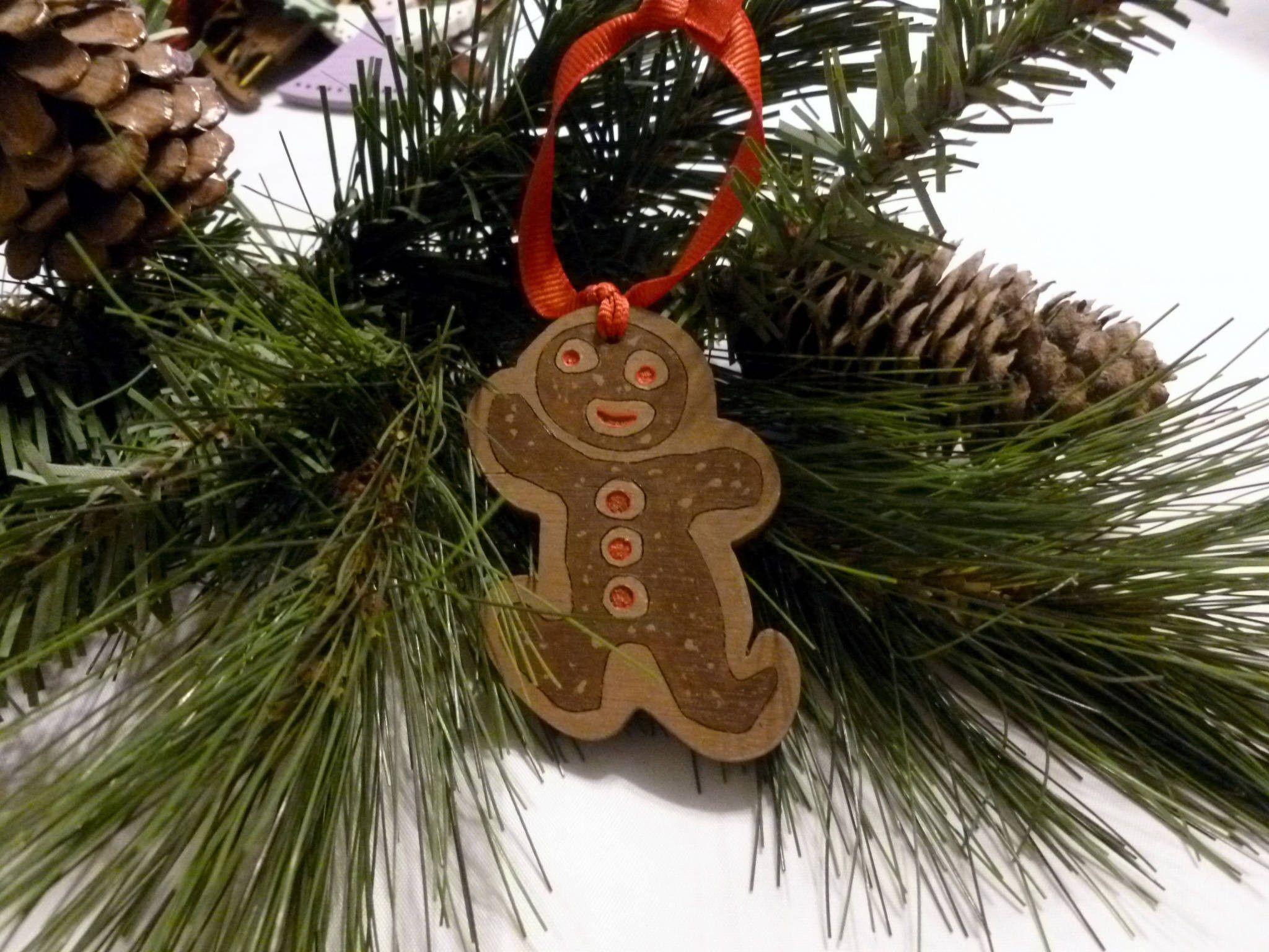 Handmade Gingerbread Christmas Ornament Xmas Gingerbread Man Decor