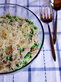 The Lovely Cupboard: Weeknight Dinner: Capellini, Ham, and Peas