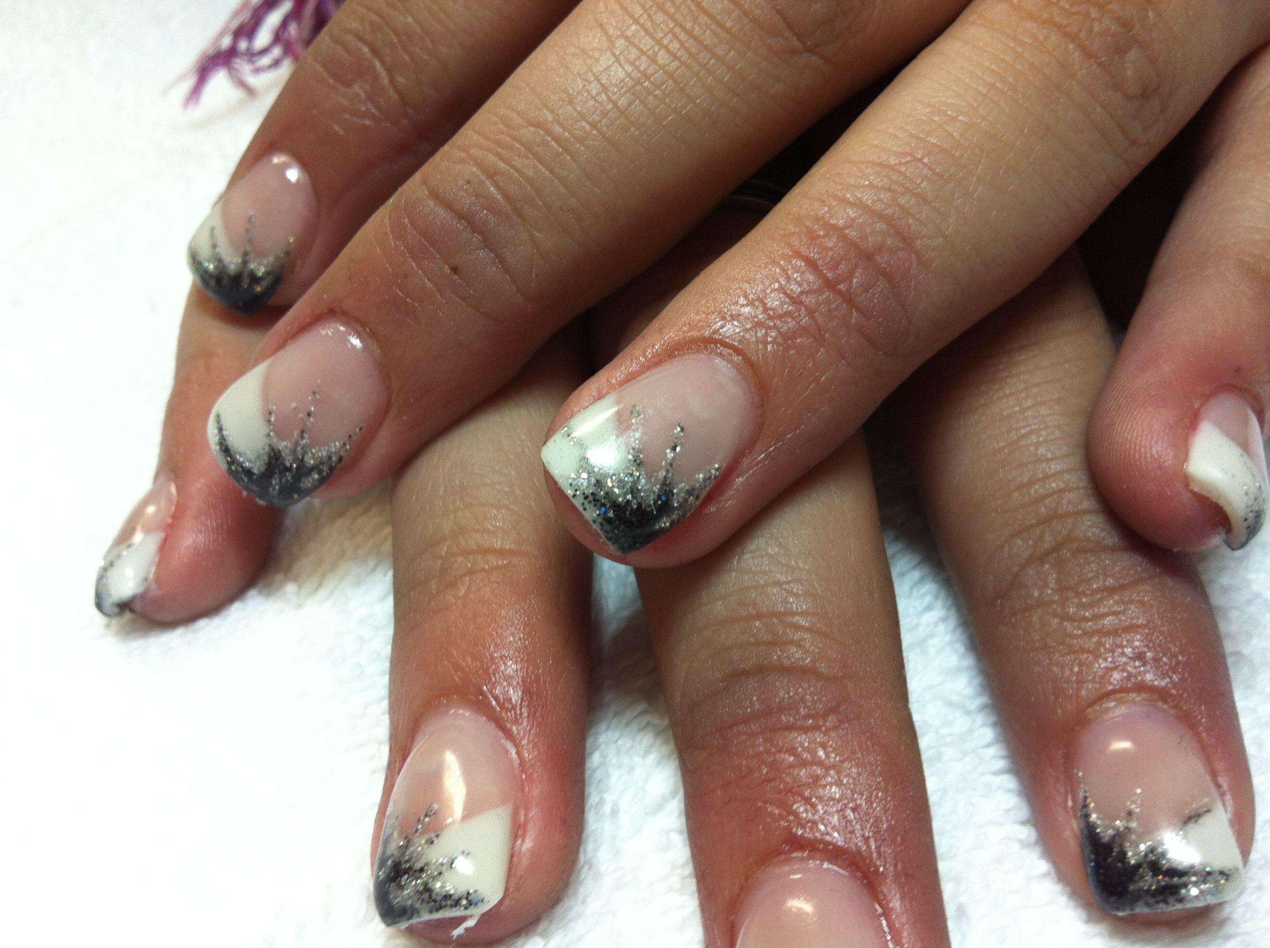 Black Tip Nail Designs | French Tip Nail Design Ideas | Nails ...