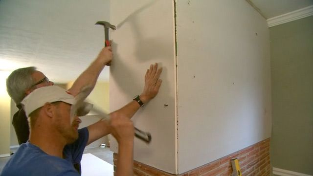 How To Hang Drywall On A Brick Wall Today S Homeowner Hanging Drywall Brick Interior Wall Brick Wall