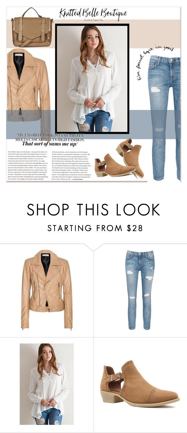 """""""Knitted Belle Boutique"""" by amra-mak ❤ liked on Polyvore featuring Balenciaga, Current/Elliott, Entro, Qupid, Topshop, women's clothing, women, female, woman and misses"""