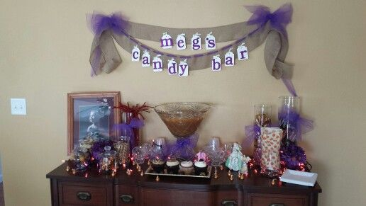 Candy bar for birthday party :)