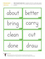 flashcards for 3rd graders