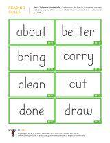 Kindergarten Worksheets Dolch Sight Words Flashcards 3rd Grade 1