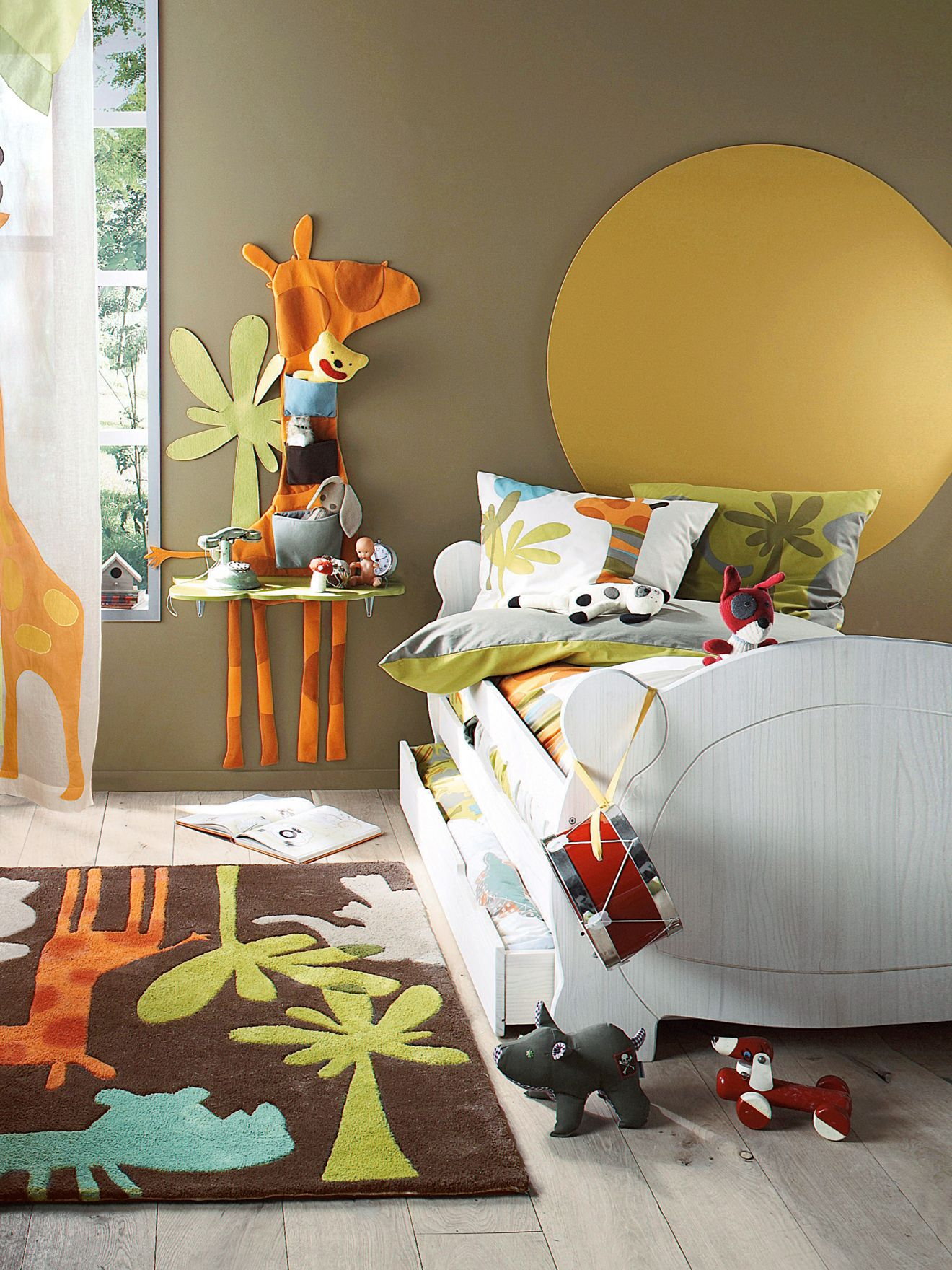 Deco Chambre Savane Chevet Mural Girafe Enfant Savane Party Www