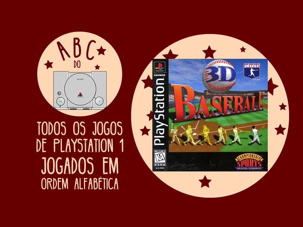 3d Baseball Gameplay Comentado Em Portugues Abc Do Ps1 Ps1