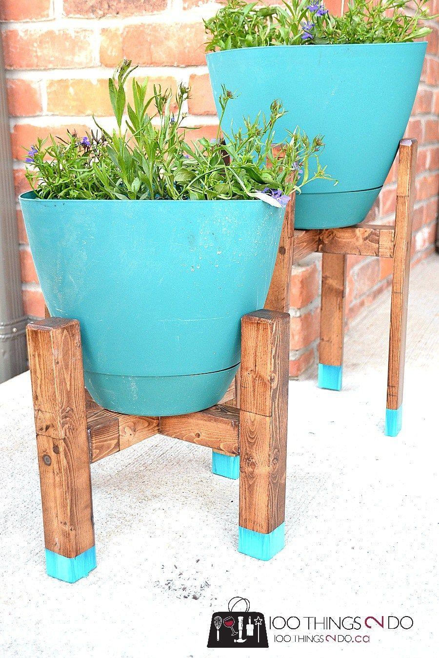 DIY Plant Stand - West Elm Knock-off