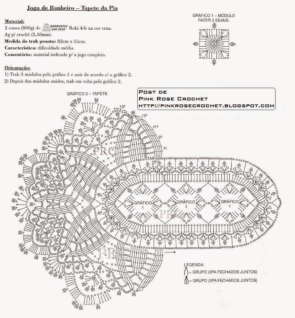 Crochet And Arts For Bathroom Filet Pinterest Oval Doily Diagram