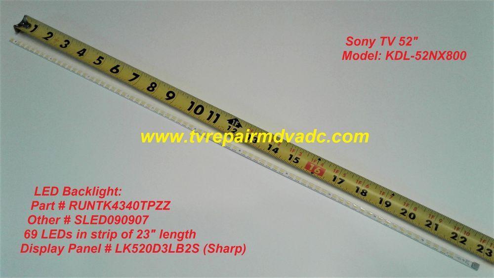 RUNTK4340TPZZ SHARP LED BACKLIGHT FOR SONY KDL-52NX800 BLINK