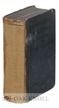 SPECIMEN BOOK AND CATALOGUE. ATF.