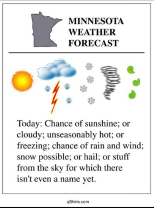 We lived in Minnesota for about a year. This is pretty true.