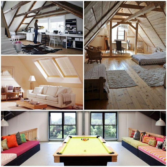 Zimmergestaltung Dachbodenzimmer Wohnideen Einrichtungsideen 700×700  Pixels | Attic Renovation | Pinterest | Attic Renovation, Movie Rooms And  Attic