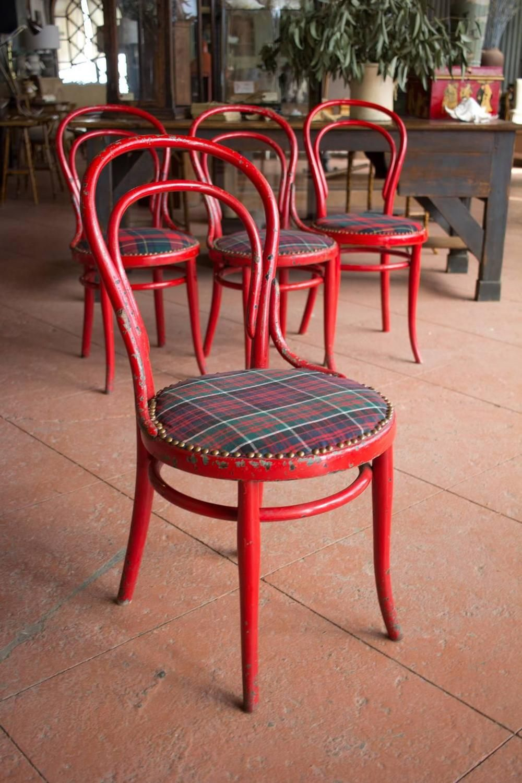 Set of Four Antique Café Chairs