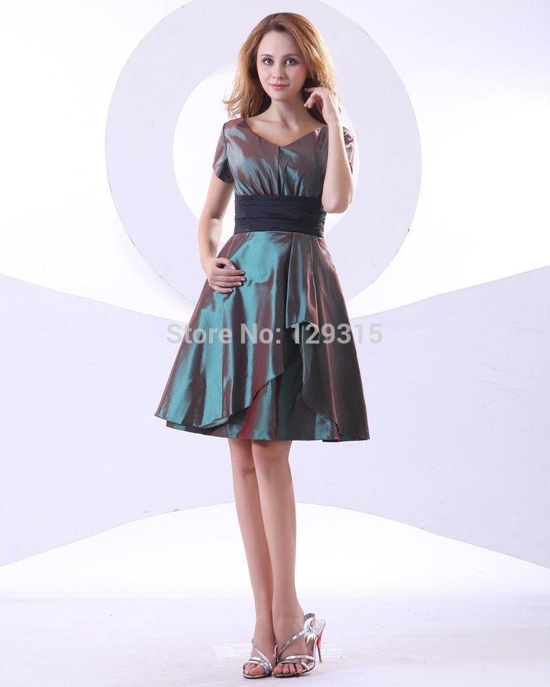 Hot Sale Cheap Plus Size Dresses Online Shopping Custom Made V Neck