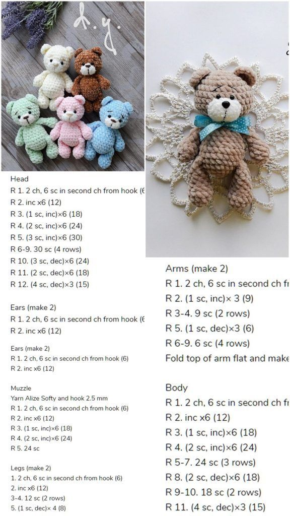 Amigurumi Little Bear Free Crochet Pattern – Amigurumi Crochet –