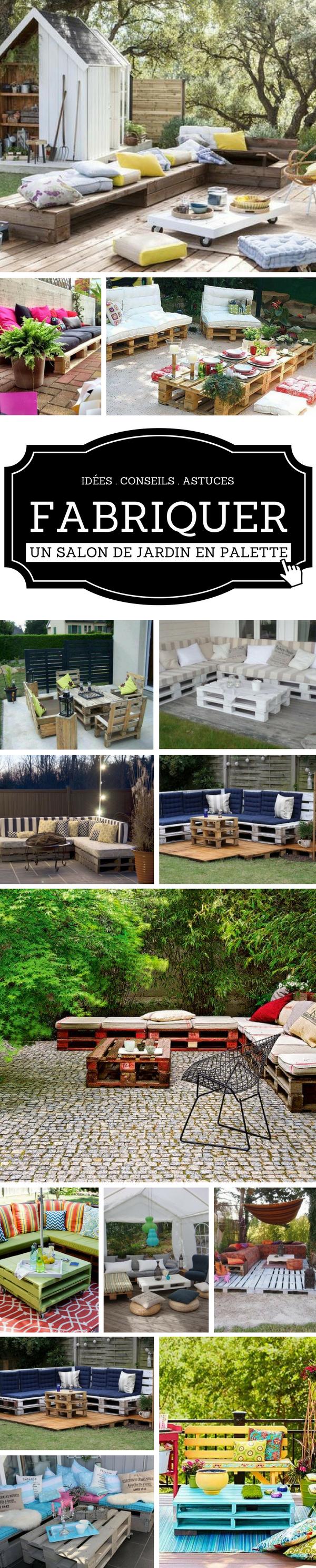 Salon de Jardin en Palette : 21 Idées à Découvrir   Upcycled ...