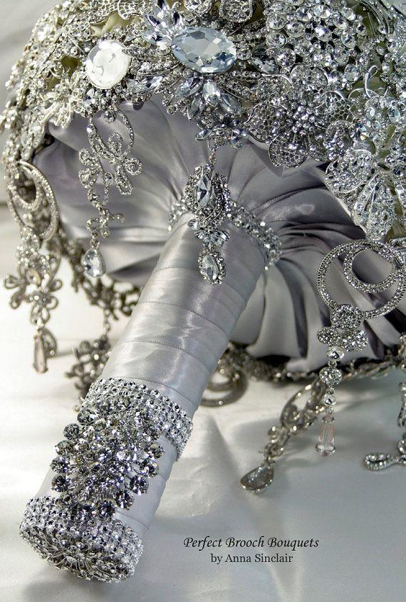 20 Chic Brooch Wedding Bouquets With Diy Tutorial Boda