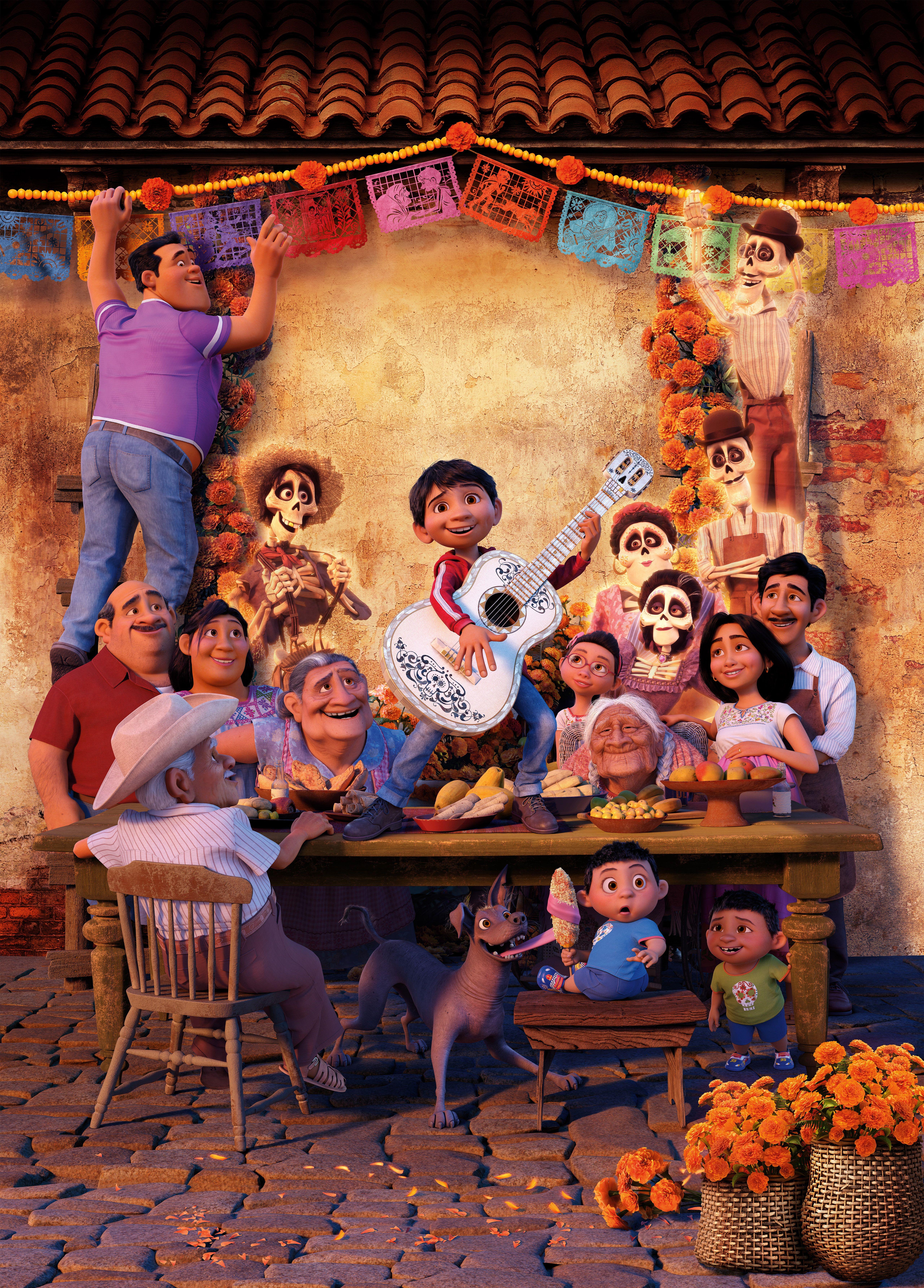 HD wallpaper: Coco, 5K, Pixar, Animation, child, childhood, boys, group of people