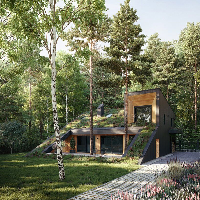 Casa de madeira em Moscou é construída em harmonia com a natureza