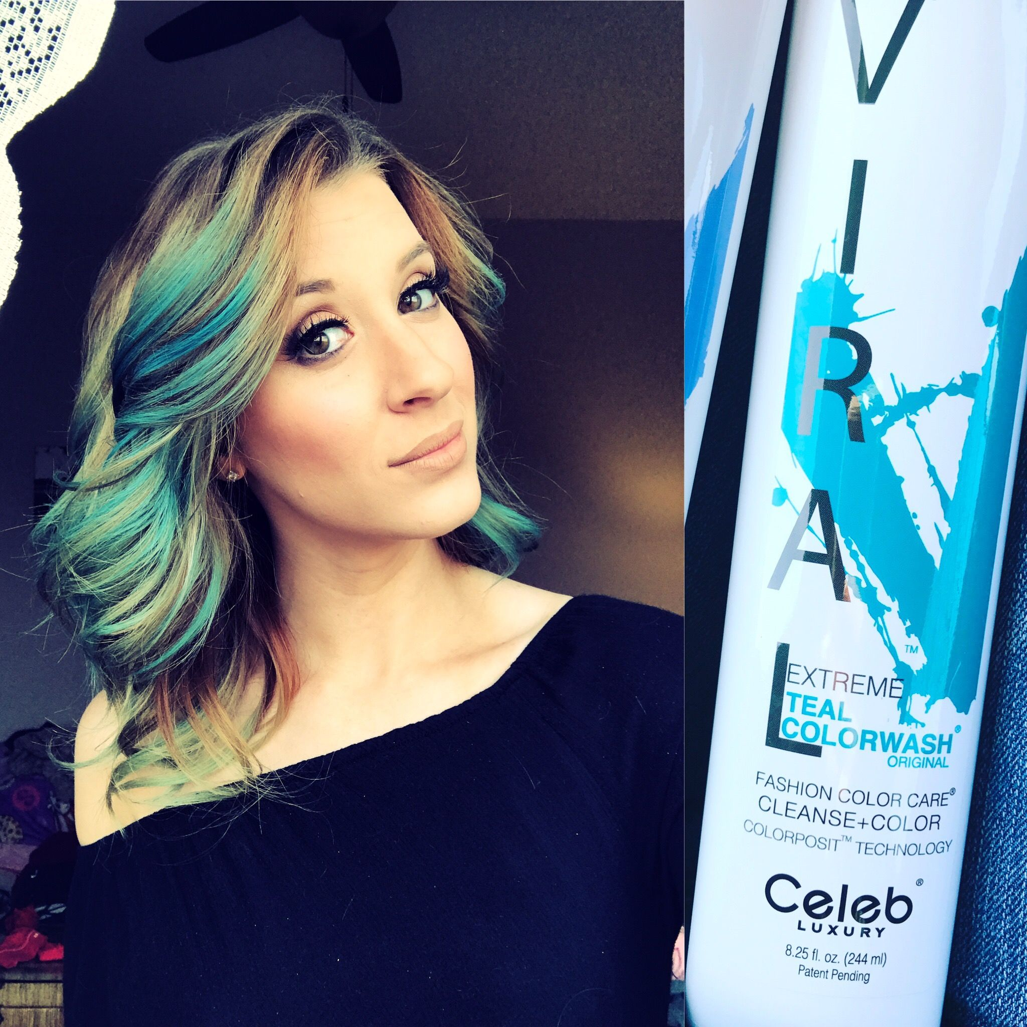 Viral colorwash shampoo colors blonde hair temporarily. All it takes ...