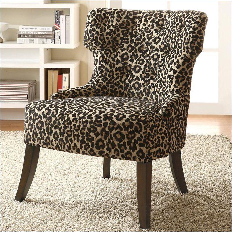 Miraculous Leopard Print Furniture Coaster Accent Chair In Leopard Beatyapartments Chair Design Images Beatyapartmentscom