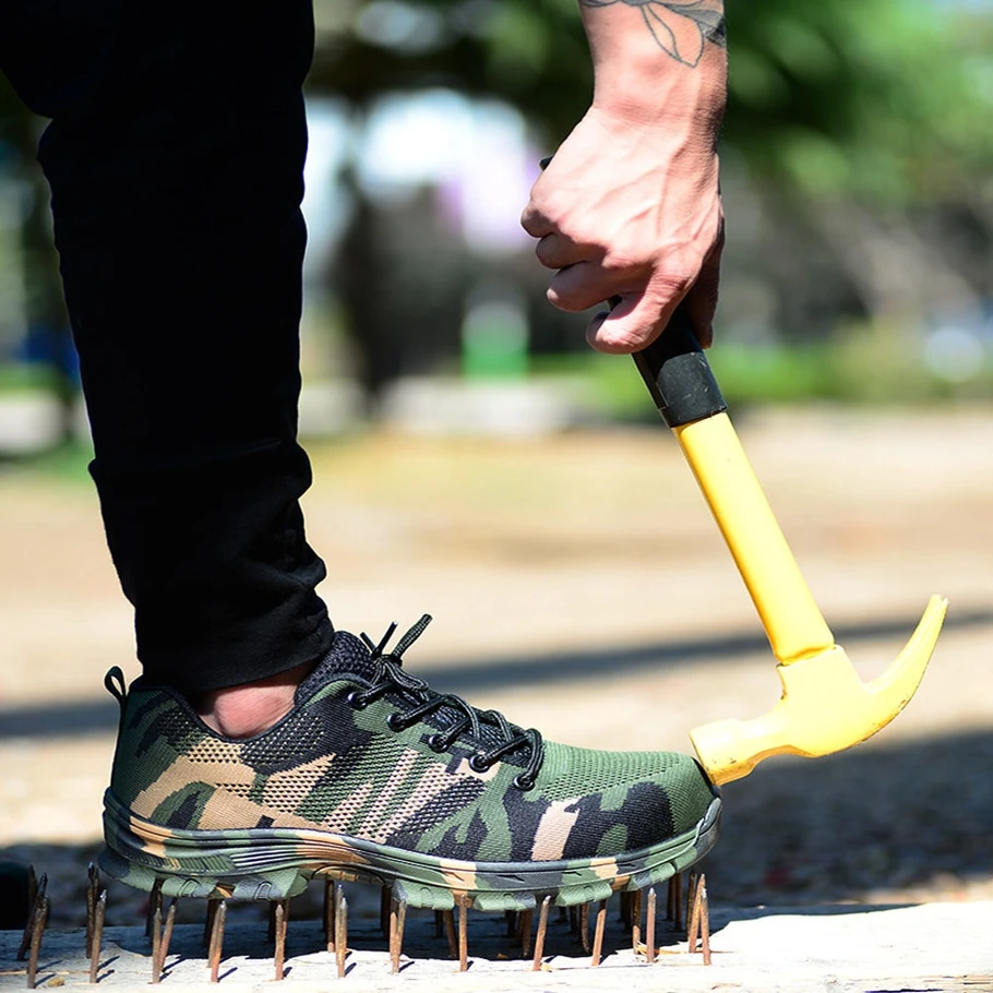 Tactical Indestructible Outdoor Shoes Steel toe safety