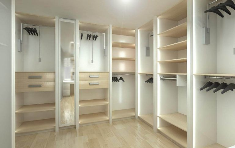 Tú mismo puedes hacer tu propio armario vestidor utilizando tablones