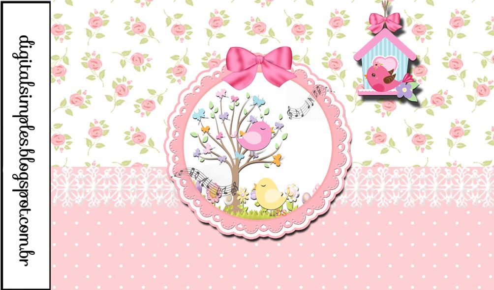 Conhecido Bellos Pajaritos: Etiquetas para Candy Bar e Imprimibles Gratis  KA14