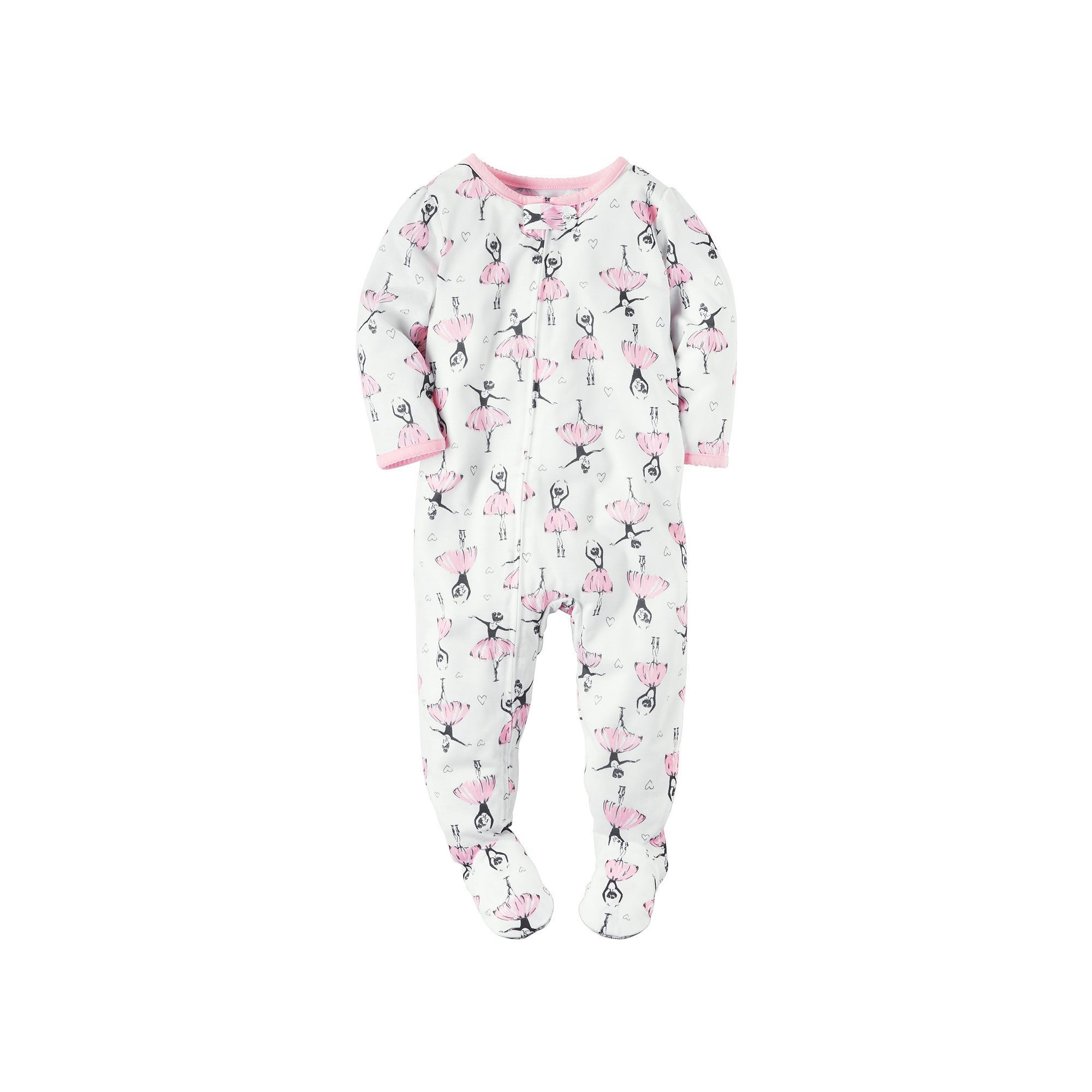 2c3bbe041 Baby Girl Carter s Printed Footed Pajamas
