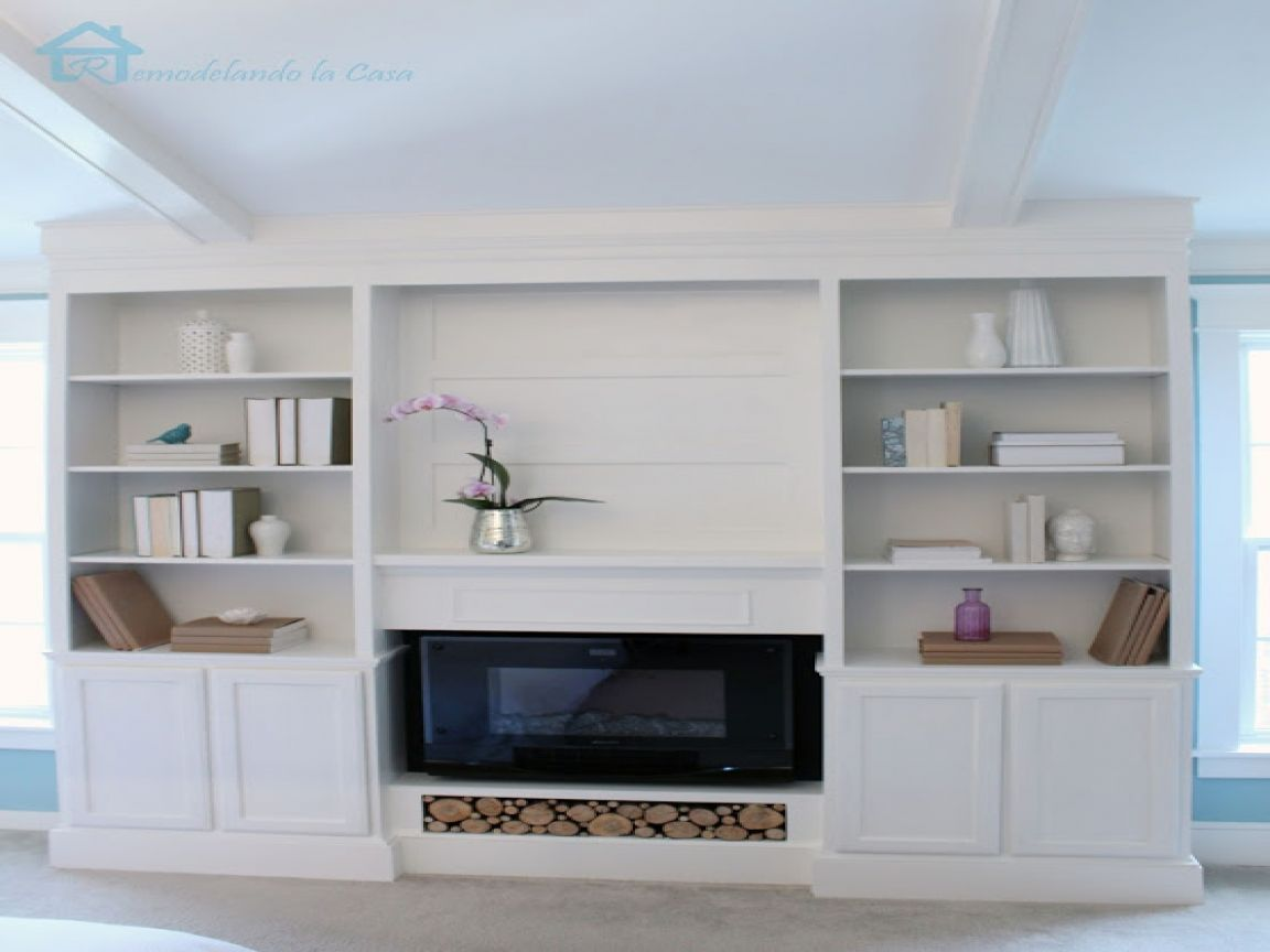 book shelves with doors Bookcase diy, Built in bookcase
