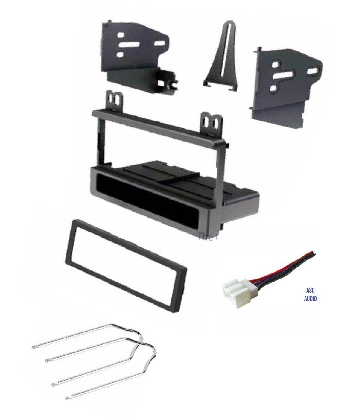 7408b99124249a5a7b8501d0b9d36e6e car stereo dash kit, wire harness, and radio tool for installing a on ford econoline 2003 stereo wiring harness to single din