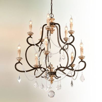 Bordeaux 10 light crystal chandelier wayfair