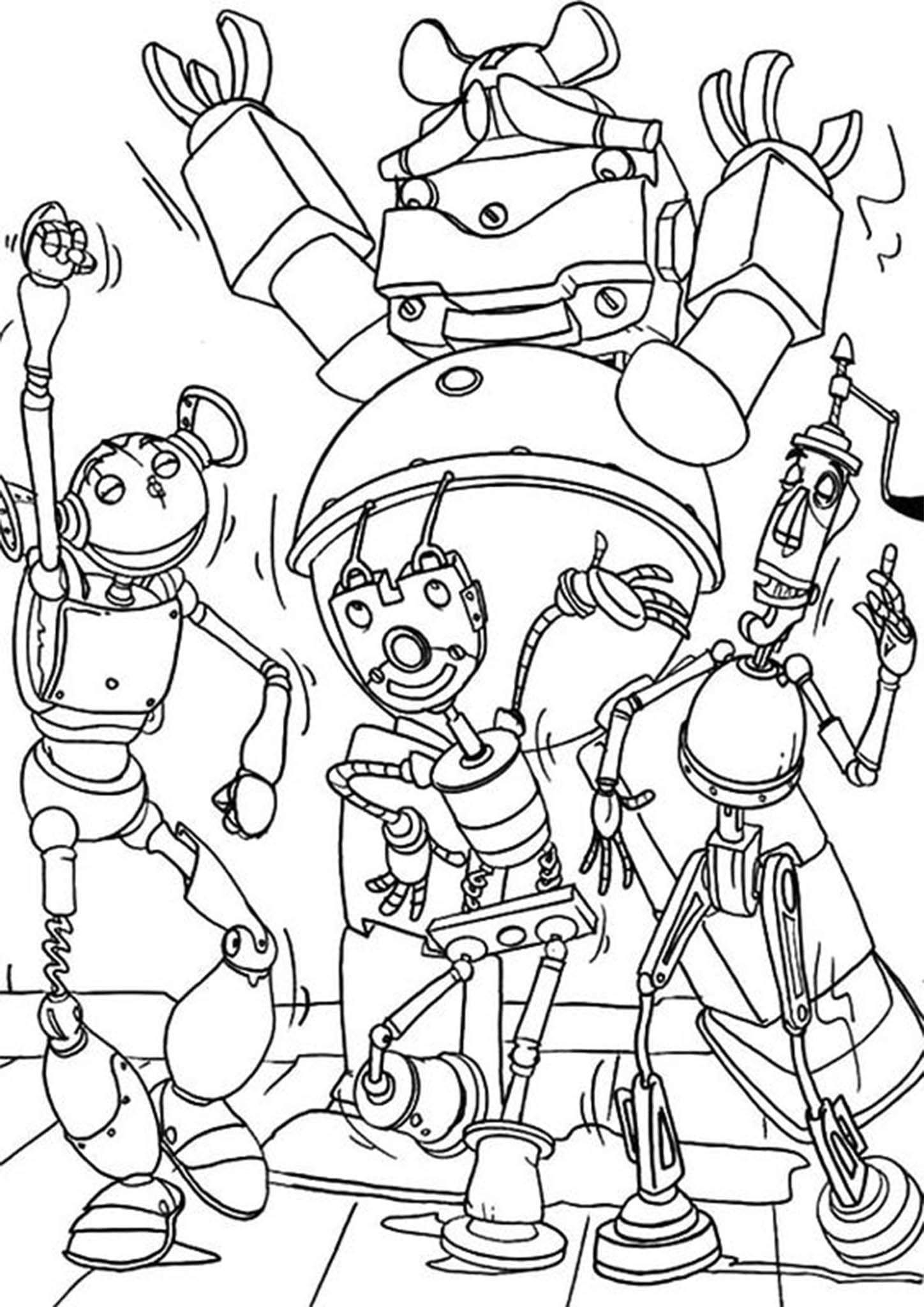 7408c934ff5bd2af7f4cac74c2375da2 » Robot Coloring Pictures