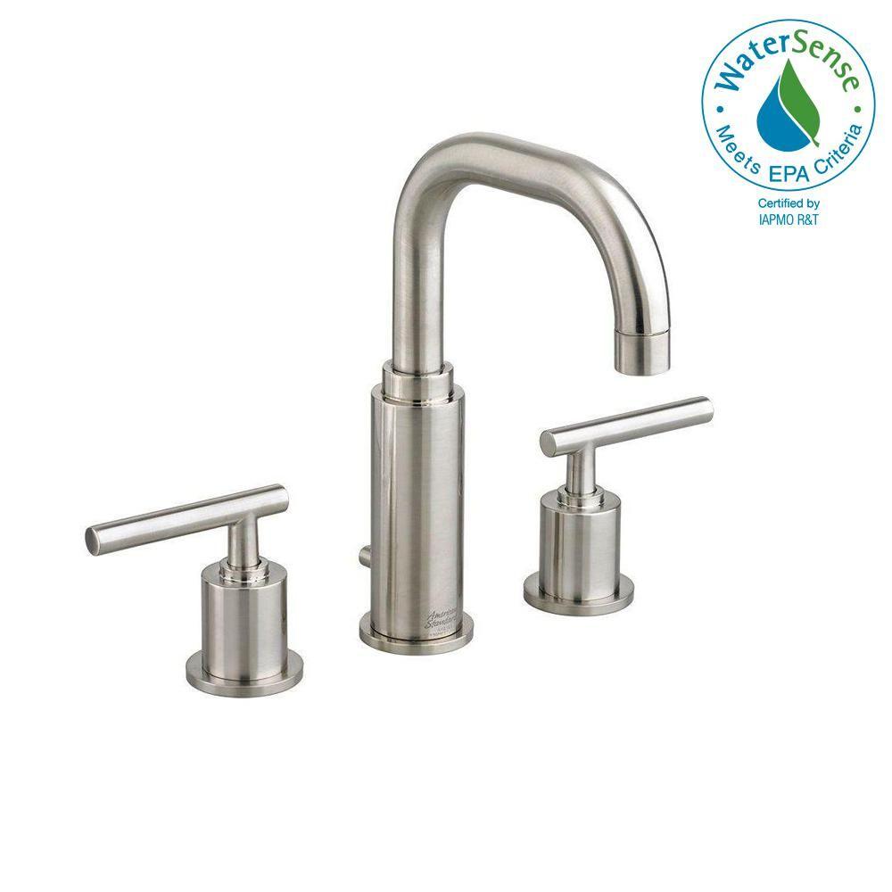 American Standard Serin 8 In Widespread 2 Handle Bathroom Faucet In Brushed Nickel 2064 831 295 Faucet Bathroom