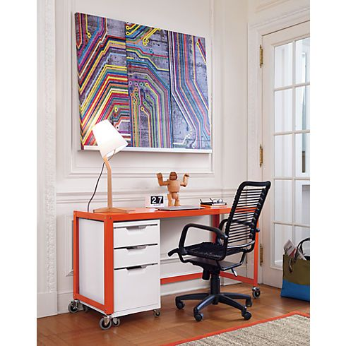 Go Cart Bright Orange Console Table In All Office Cb2 Modern Home Office Furniture Home