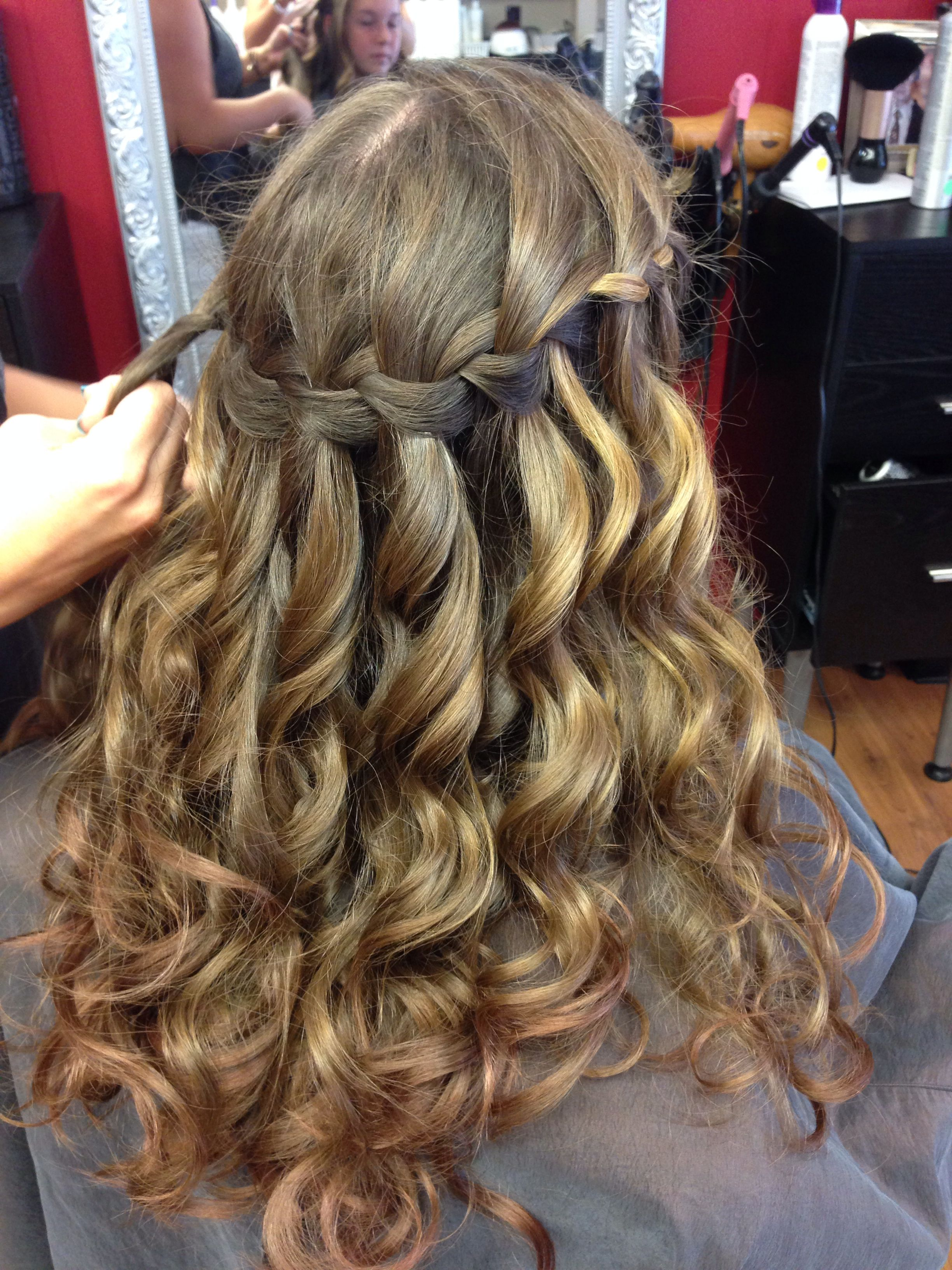 hair style for teenager s waterfall braid for 8th grade graduation hair 7408 | 7408e4a5351d89cd410fed5059fe30f3