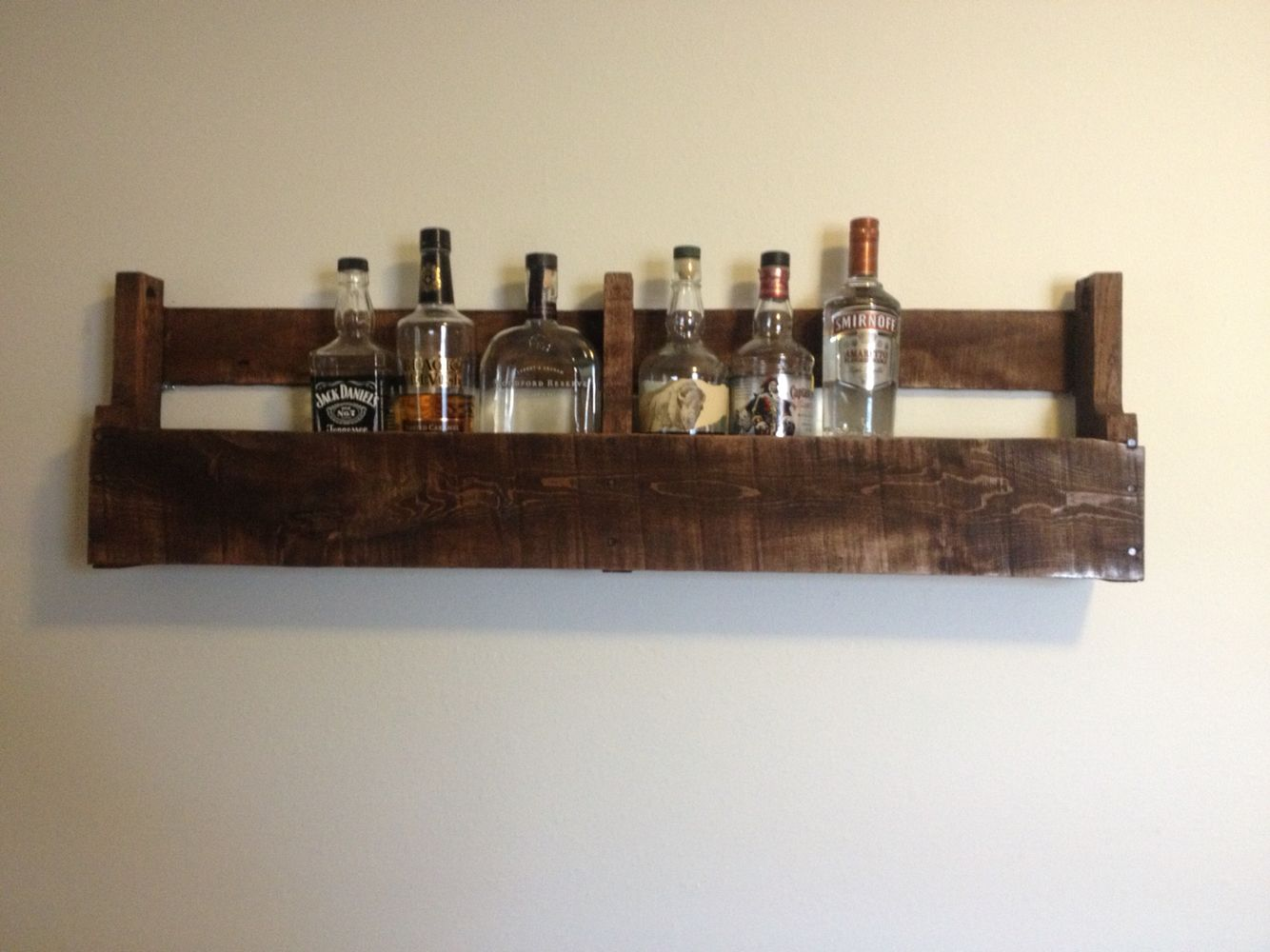 Pallet Whiskey Rack. Pallets · Our First Attempt. A Wine Or Whiskey Rack  Which