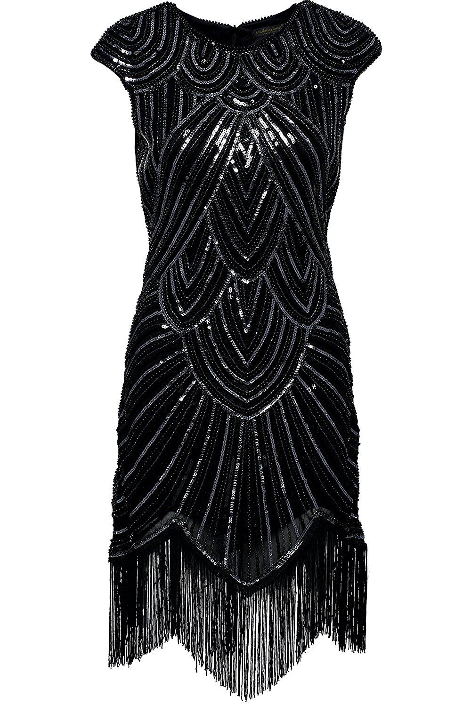 Babeyond Women\'s Flapper Dresses 1920s Beaded Fringed Great Gatsby ...