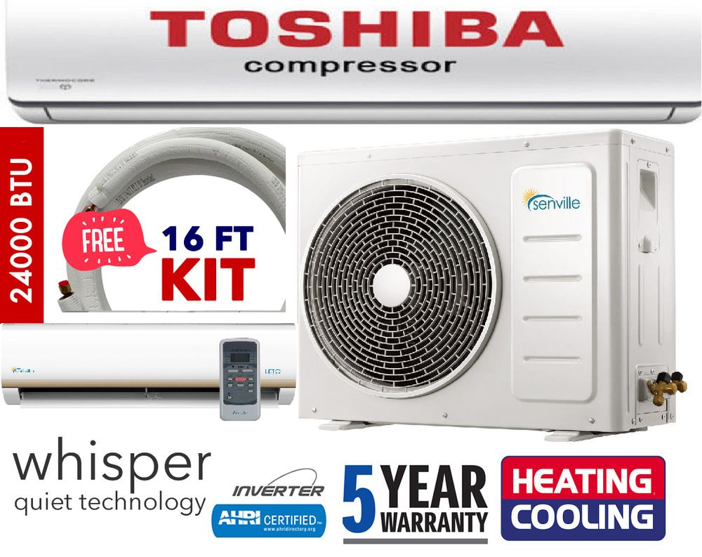 24000 BTU Ductless AC Mini Split Air Conditioner and Heat