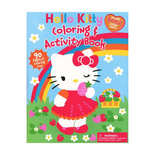 Hello Kitty Coloring Book 90 Pages Walmart