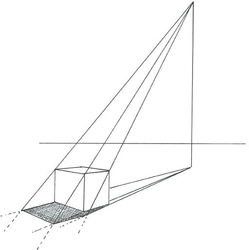 Exercise: Drawing a Box in Two-Point Perspective - Drawing