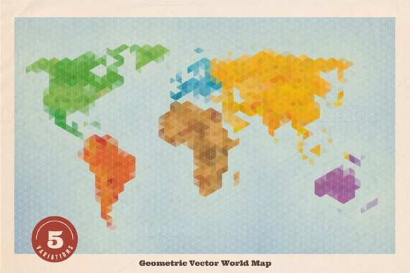 Geometric vector world map by kloroform on creative market vintage geometric vector world map by kloroform on creative market gumiabroncs Image collections