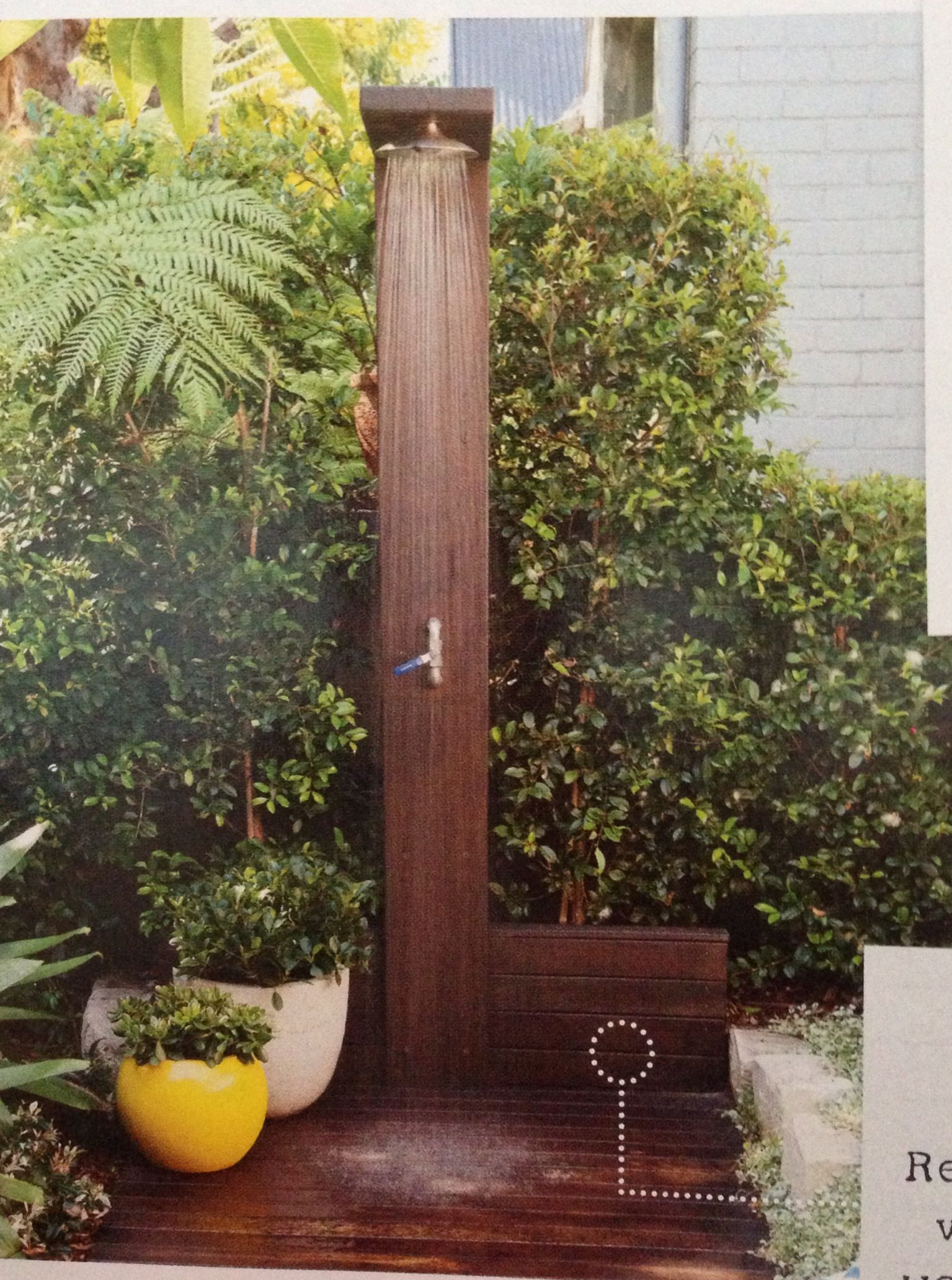 outdoor shower fittings from reece and blackbutt hardwood