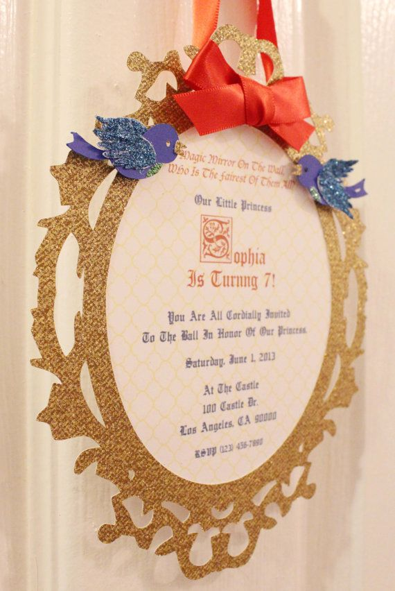Snow White Invitations by SophiesticatedEvents on Etsy Ever After