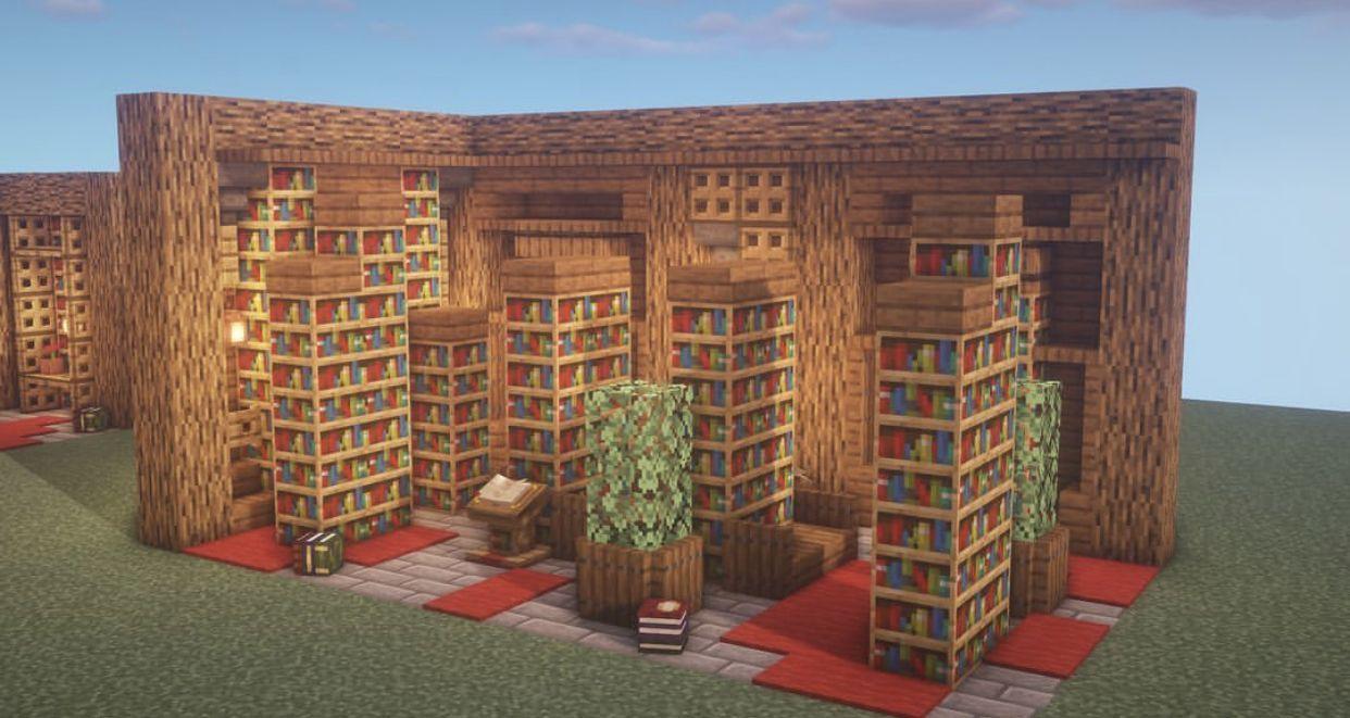 Minecraft Library Building _ Minecraft Library  Minecraft