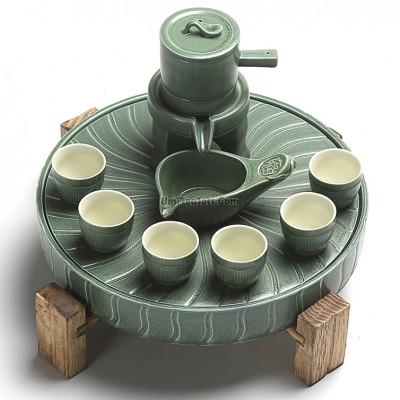 Green Buhrimill Automatic Tea Set With Tray Tea Set Asian Tea Asian Tea Sets