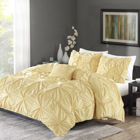 Better Homes And Gardens Twist Pleat Bedding Duvet Cover Set Walmart Com Luxury Bedding Sets Bed Duvet Covers Bedding Sets Grey