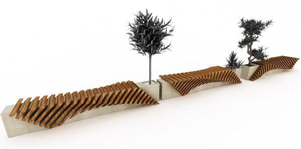 Urban Bench with a Planter by Juampi Sammartino | Modern Outdoors